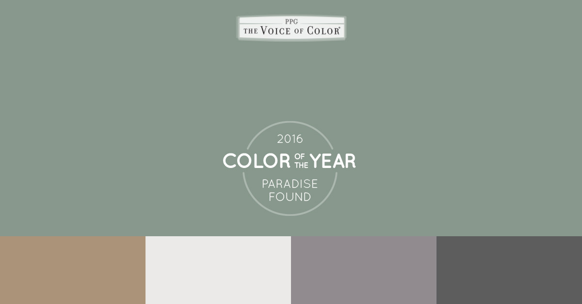 The 2016 paint color of the year presented by voice of color Paint color of the year